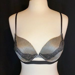 Black Houndstooth Very Sexy Push-up Bra